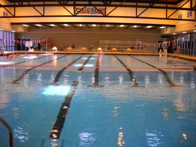 The Whitefish Bay High School pool.